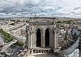 North tower of Notre-Dame de Paris, 28 April 2018.jpg
