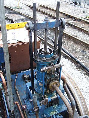 Novelty (locomotive) - Cylinder on replica of Novelty