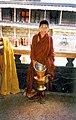 Novice monk with teapot. Tashilhunpo, Tibet.jpg