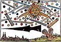 Illustration of celestial phenomena in Nuremberg