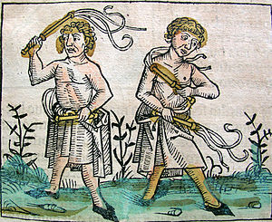 Nuremberg chronicles - Flagellants (CCXVr)