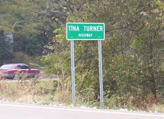 Tennessee State Route 19 - Tina Turner Highway in Nutbush, Haywood County (2004)