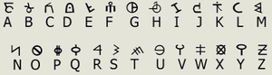 Nuwaubian Nation - One simple form of Nuwaubic is a simple substitution cipher