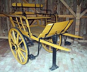 Gig (carriage) - Image: Nyirseg type two wheel carriage
