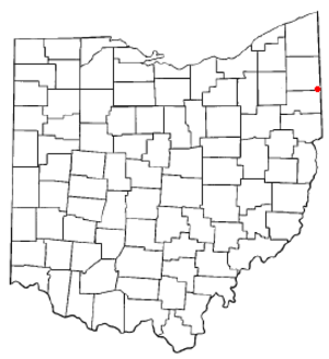 Hubbard, Ohio - Image: OH Map doton Hubbard