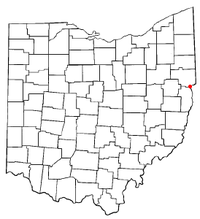 Location of Wellsville, Ohio