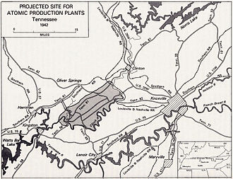 Clinton Engineer Works - Projected Site for Atomic Production Plants, 1942