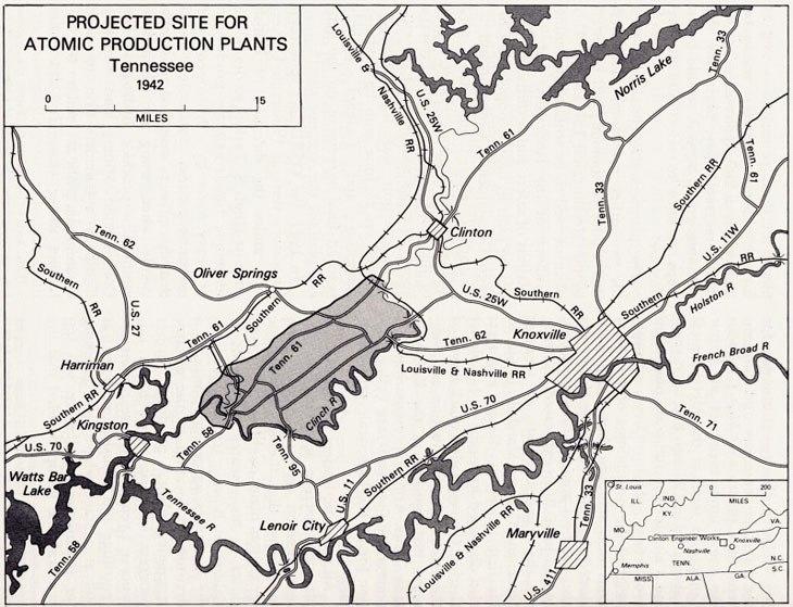 Oak Ridge area 1942