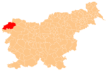 Location of the Municipality of Bovec in Slovenia