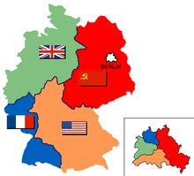 verdeling van duitsland en berlijn in bezettingszones