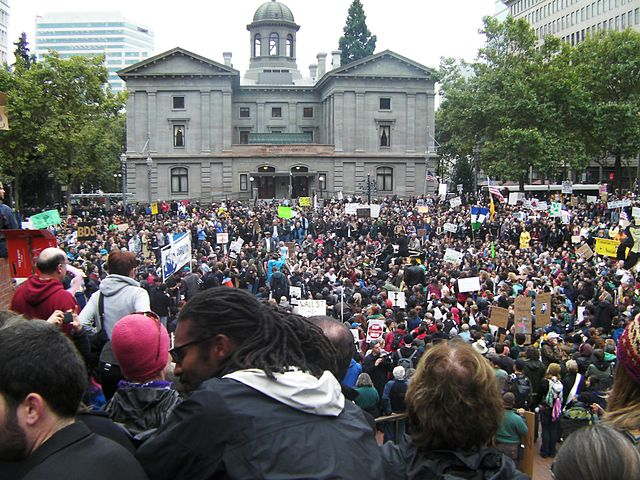 From commons.wikimedia.org: Occupy Portland, first day {MID-116361}