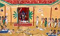 Offerings being laid before an Indic deity. Gouache on mica. Wellcome V0018244.jpg