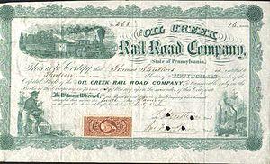 Oil Creek Railroad - Oil Creek Railroad Company stock certificate