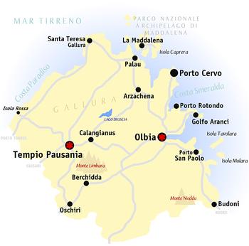Palau Sardegna Cartina.Provincia Di Olbia Tempio Wikipedia