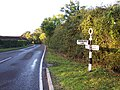 Old WSCC Road Sign near Woodmancote - geograph.org.uk - 60443.jpg