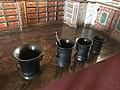Old mortars in exposition History of pharmacies in Kuks Hospital in Kuks, Trutnov District.jpg