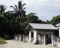 The old mosque of Kudahuvadhoo famous for its fine masonry
