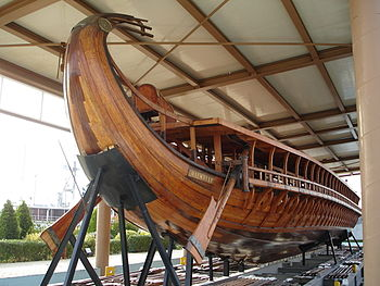 The stern of Trireme Olympias