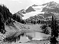 One of the beautiful lakes in Martin's Park. Above is the DeLabarre Glacier on the east side of Mount Christie. Olympic National (56f88142a7624a0cbd3bbcb326c33270).jpg