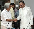 Oommen Chandy calling on the Union Steel Minister, Shri Beni Prasad Verma, to discuss the present status and future roadmap for the Joint Venture (JV) of SAIL Steel Complex Limited, in New Delhi on September 22, 2011.jpg