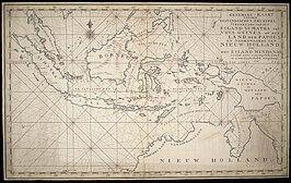 Nederlandse kaart van de Indische Archipel uit begin negentiende eeuw