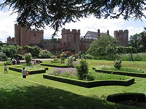 Maxstoke Castle - The castle gardens