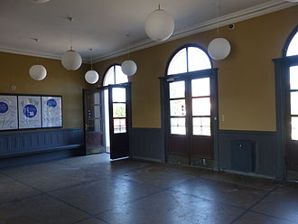 Ordrup station - Interior of the station building.