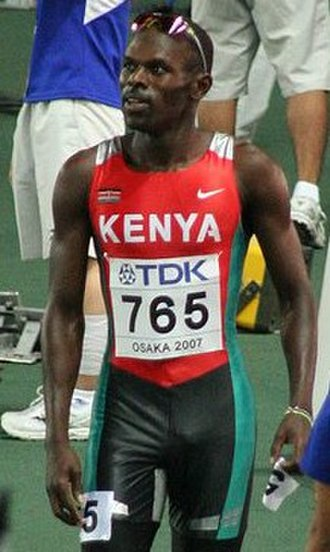 Wilfred Bungei - Bungei at the 2007 Osaka World Championships.