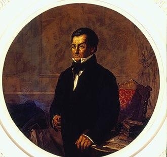 Diogo Antônio Feijó - Image: Oscar Pereira da Silva Retrato do Padre Diogo Antônio Feijó, Acervo do Museu Paulista da USP