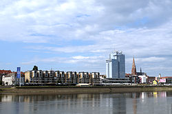 Osijek as seen from the river Drava in mid-June 2012