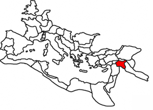 Osroene - Roman province of Osroëne, 120, highlighted within the Roman Empire