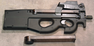 FN P90 personal defense weapon and compact submachine gun