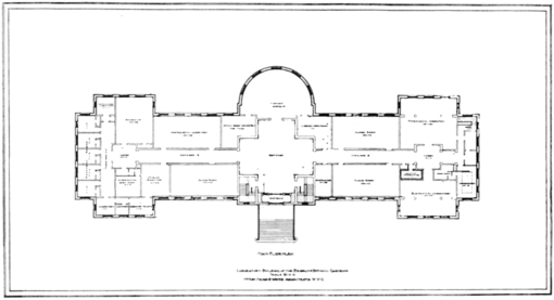 PSM V80 D344 Floor plan of the lab and administration of the brooklyn botanic gardens.png