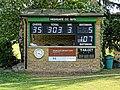 Pacific CC v Chigwell CC at Crouch End, London, England 2 scorebox.jpg