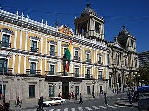 Palacio Quemado - The Palacio Quemado, La Paz