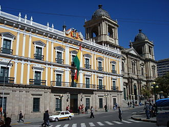 Politics of Bolivia - Palacio Quemado, seats the executive power.