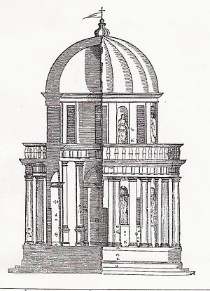 Andrea Palladio, woodcut in Quattro Libri dell...
