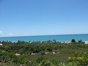 vista do litoral