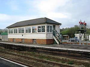 Par railway station - Par signal box