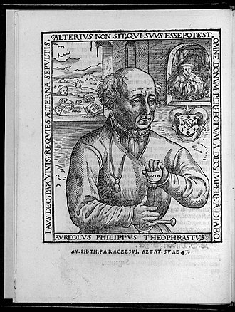 "Paracelsus - The 1567 ""Rosicrucian"" portrait."