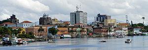 Paranaguá - Panorama of old port of Paranaguá waterfront area