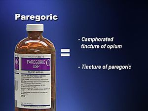 Paregoric - Bottle of Paregoric