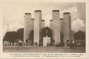 International Exhibition of Modern Decorative and Industrial Arts - Image: Paris FR 75 Expo 1925 Arts décoratifs entrée Place de la Concorde