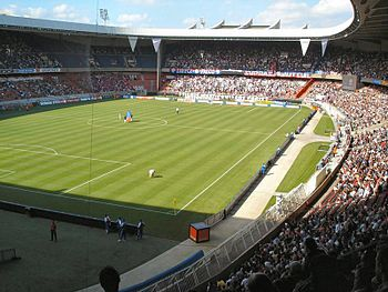 The Parc des Princes, which was hosting the fi...