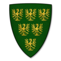 "Parliamentary Roll (Papworth N) Shield 0003 ""Le Counte de Cornewaille"" (The Earl of Cornwall).png"