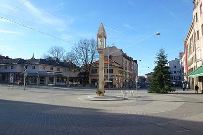 Wie komme ich zu dem Pasinger Marienplatz in München mit der S-Bahn ...