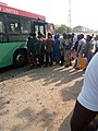 Passengers boarding BRT at Life Camp, Abuja by Dike Chukwuma.jpg
