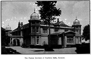 National Institute of Nutrition, Hyderabad - Pasteur Institute at Coonoor in 1927