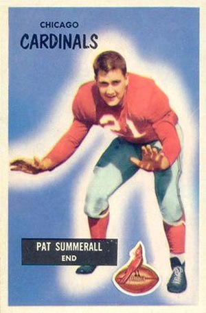 Pat Summerall - Summerall on a 1955 Bowman football card