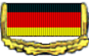 Patriotic Order of Merit - Image: Patriotic Order of Merit GDR ribbon bar gold